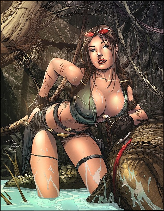 Lara croft hot lesbian monsters fucked erotic picture