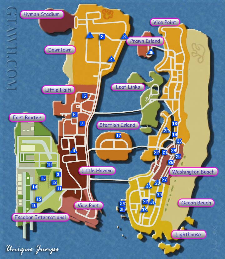 Vice City Map Properties Gta vice city p...