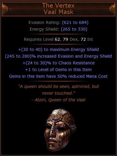 Poe Energy Shield Evasion Build