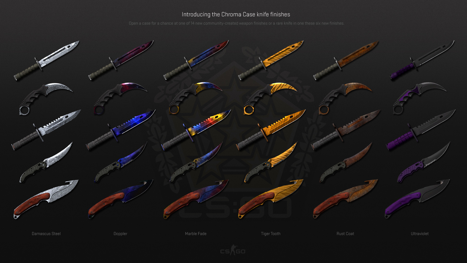 steam community guide chroma case update knife guide. Black Bedroom Furniture Sets. Home Design Ideas