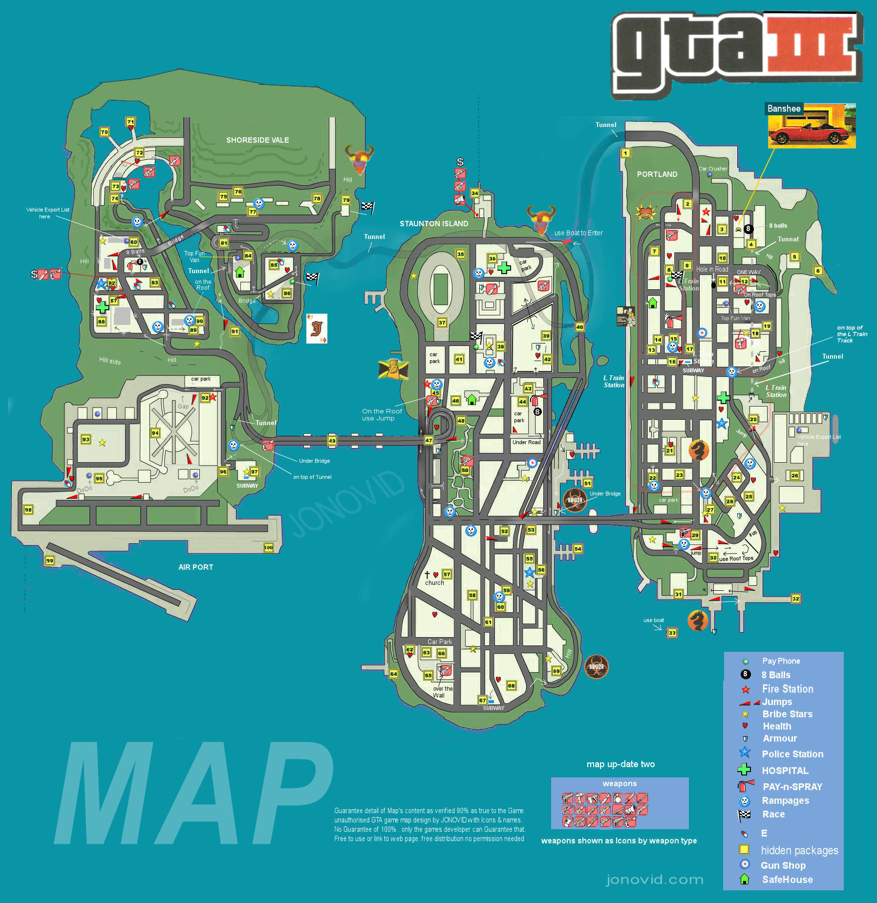 Steam Community :: Guide :: GTA III Map