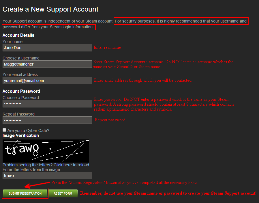 Account Name: Steam Community :: Guide :: How To Write A Steam Support