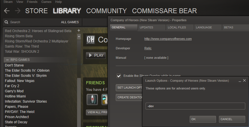 How To Open Console Commands On Company Of Heroes Coh2 Org