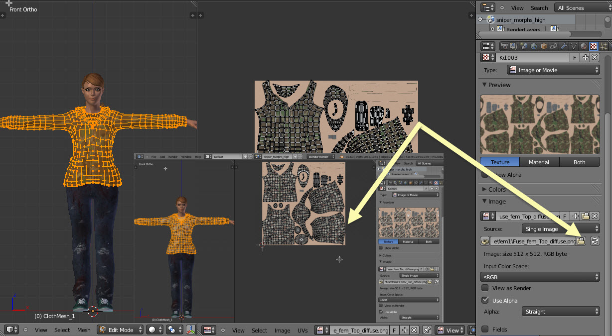 how to make one object with multiple textures