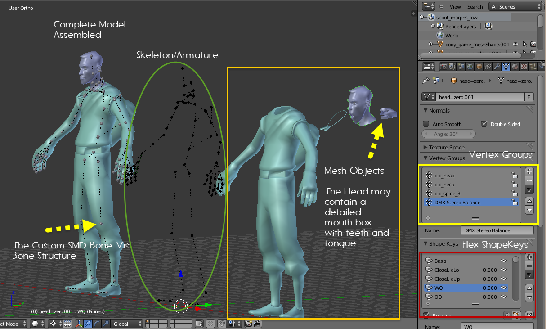 Blender Character Modeling Guide : Steam community guide practically any model to sfm