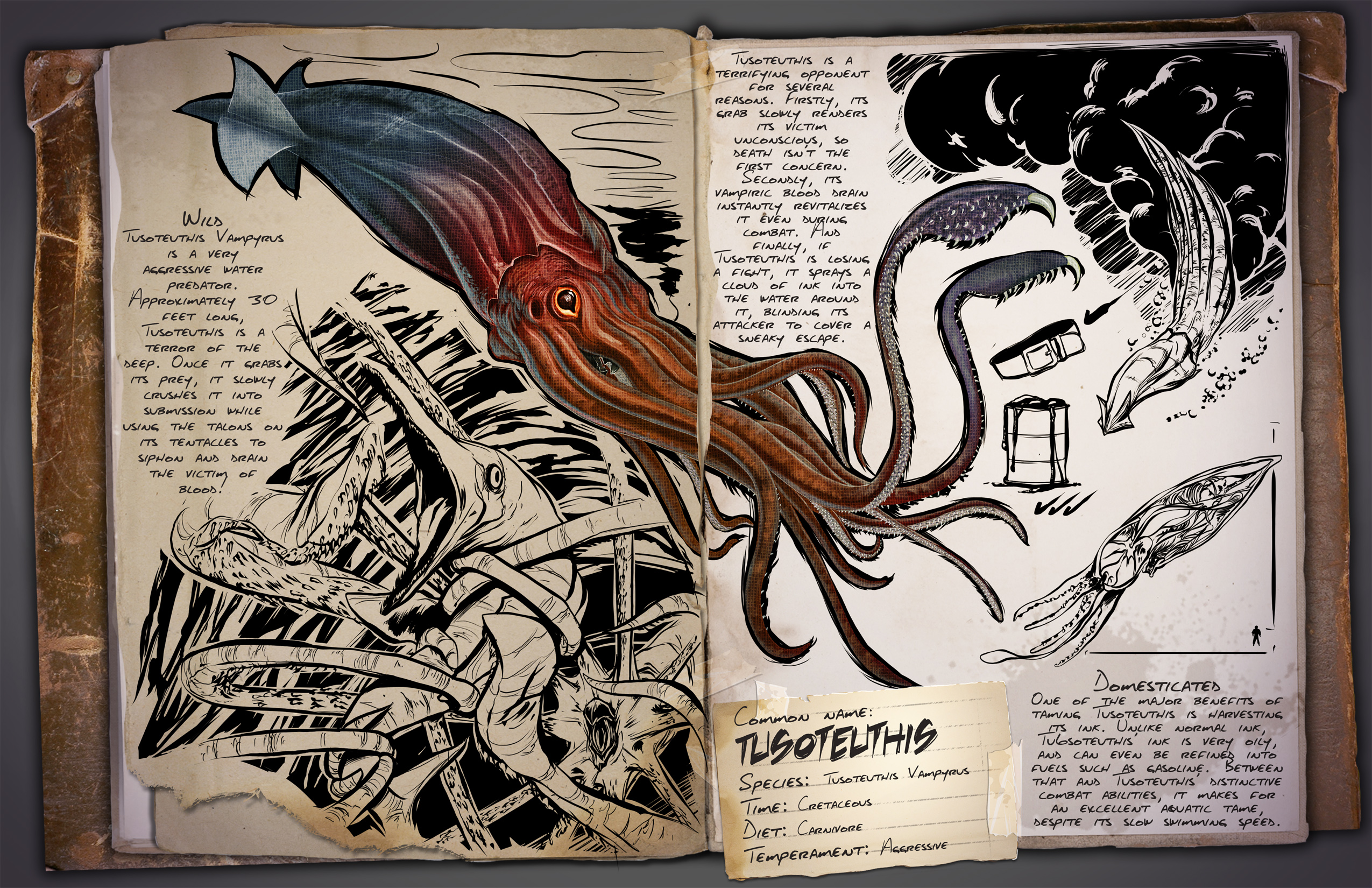 Ark Survival Evolved 08 10 15 Introducing The Tusoteuthis Steam News For a list of all creatures, see creatures. steam