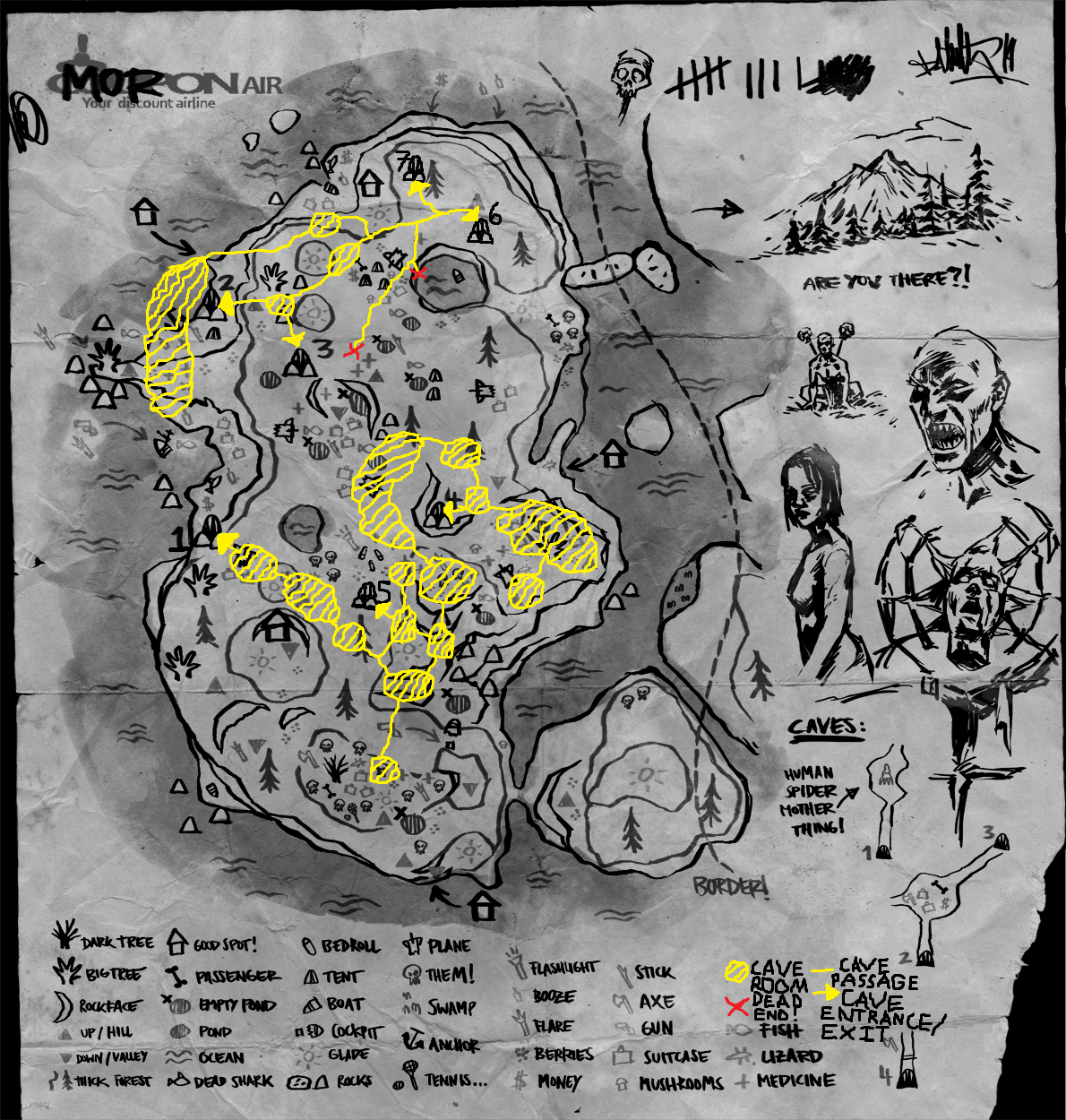 Steam Community :: Guide :: The Forest Cave System Map!