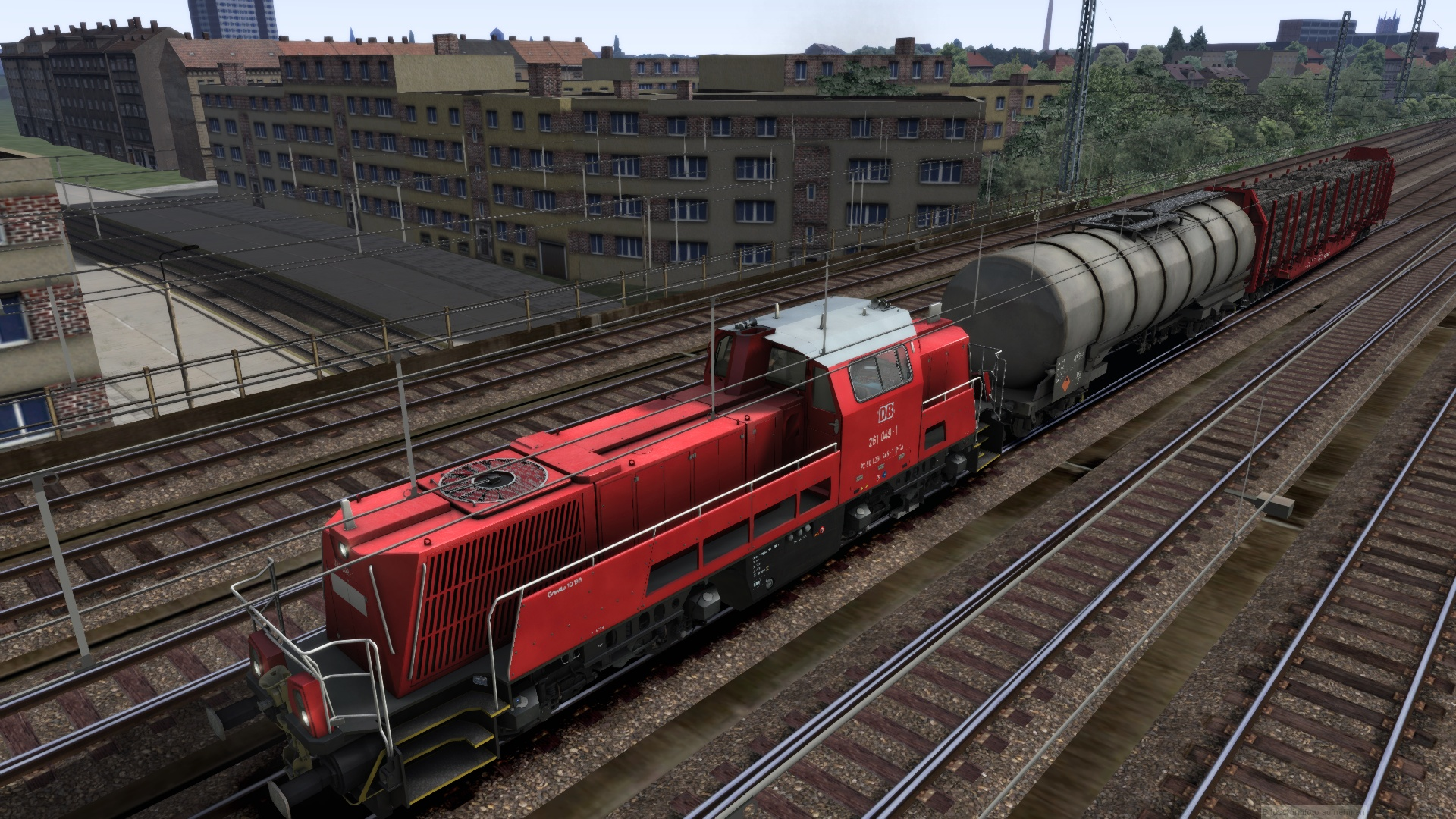 Testfahrt in Rostock mit BR261