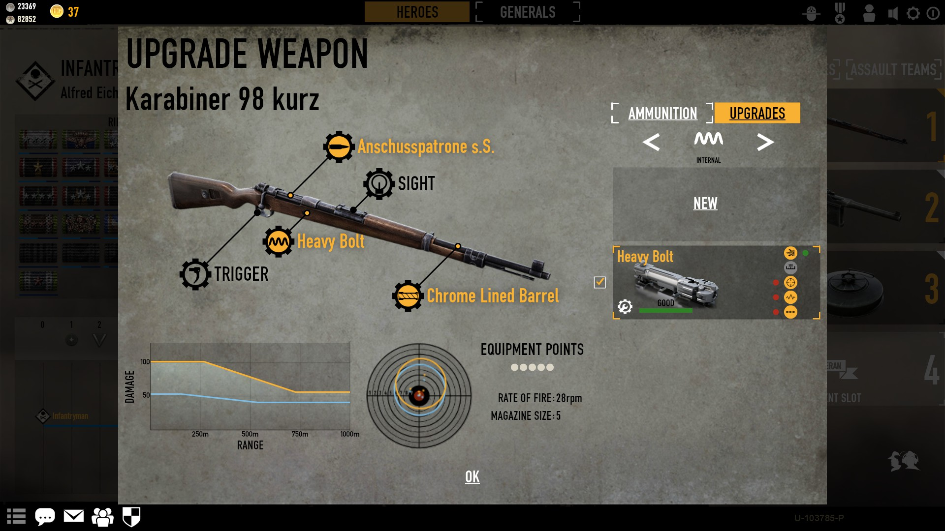 how to win heroes and generals as a rifle
