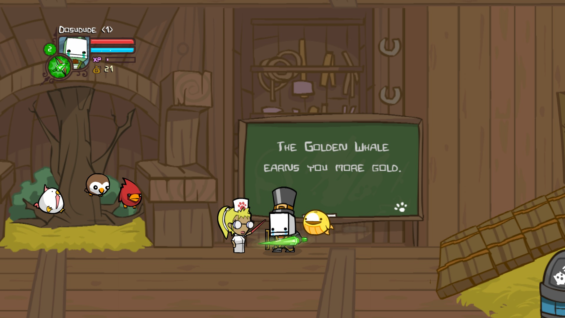 how to get the golden whale in castle crashers