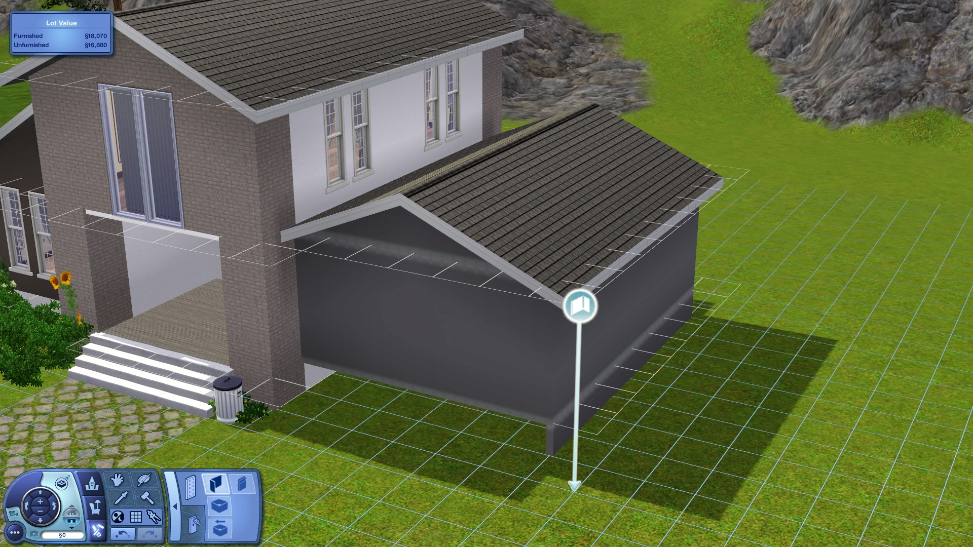 Steam community guide how to attach a garage to a for Foundation for garage