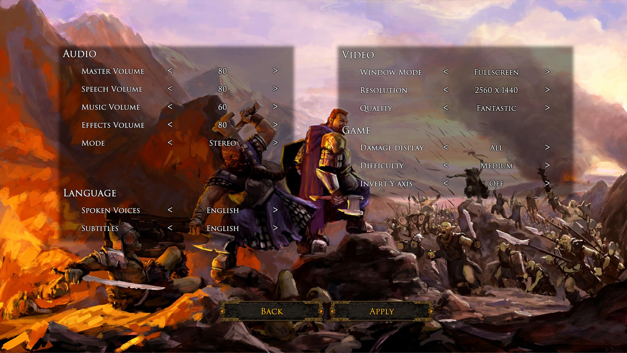 Dwarves Menus