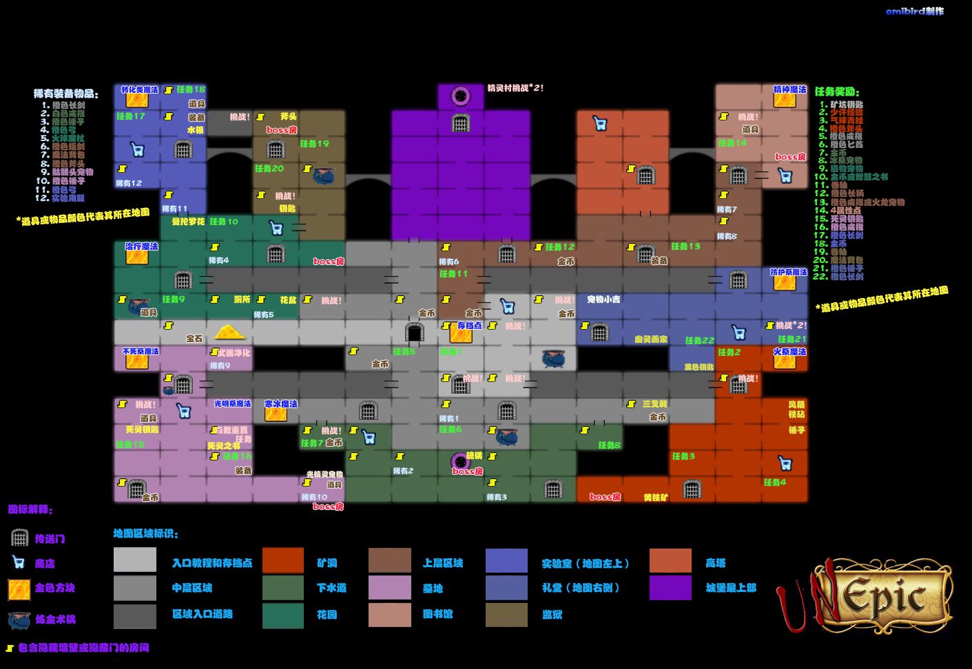 Steam Community :: Guide :: Unepic 地图