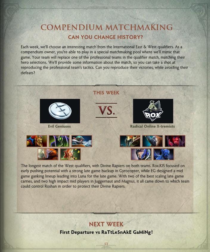 Compendium matchmaking rewards-in-Springbourne