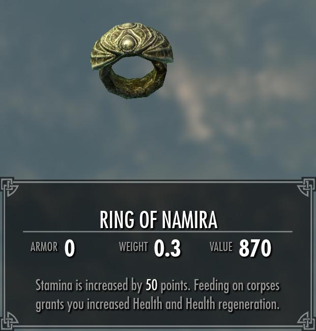 Skyrim Namira S Ring Id