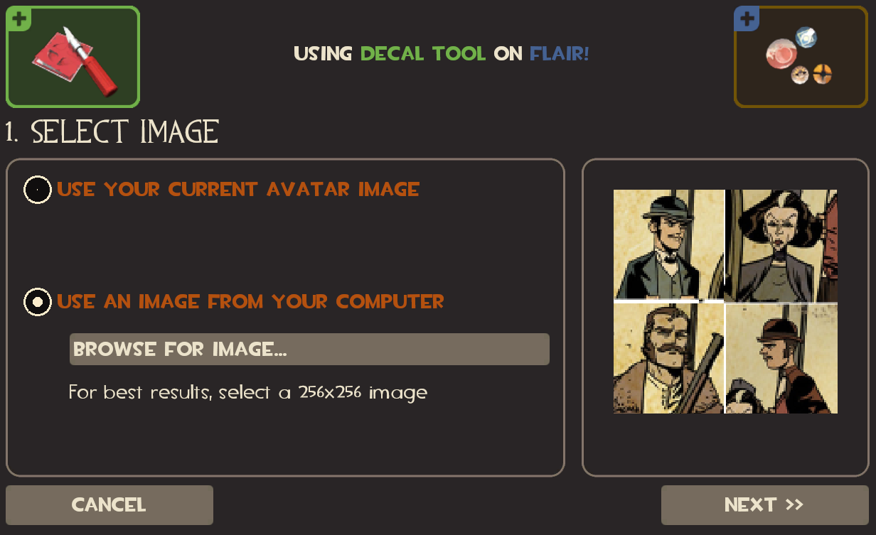 Funny Utlity Locator : Steam community guide creating flair decals