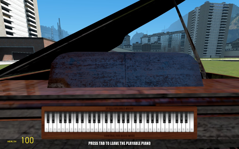 Partition Piano Gmod