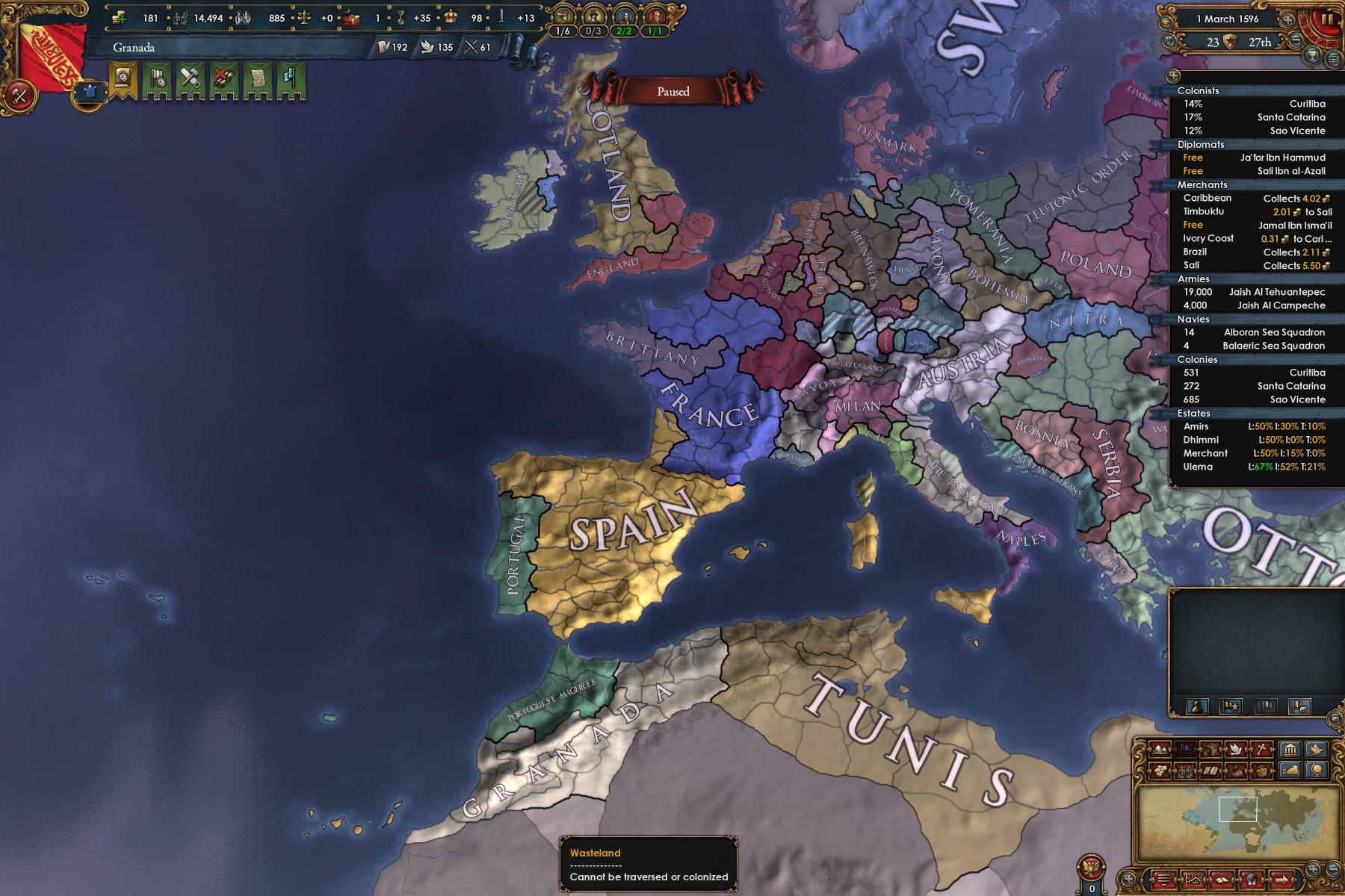 Granada Reconquista strategy 1 19 | Paradox Interactive Forums