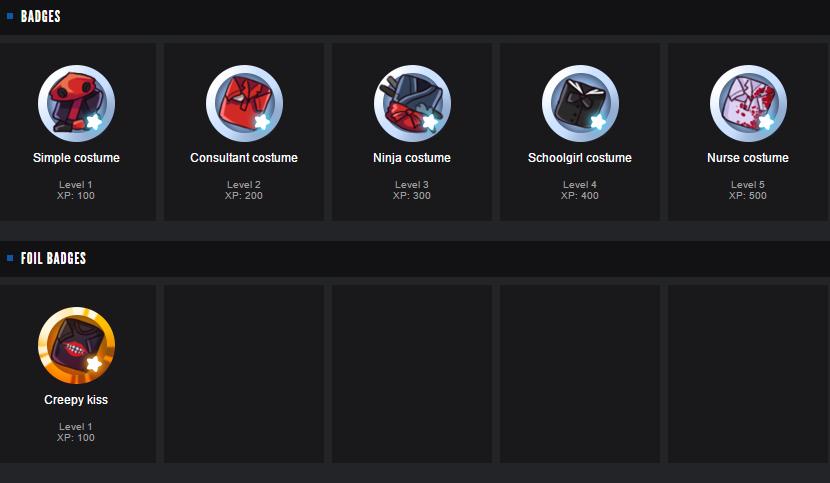 Steam значки список