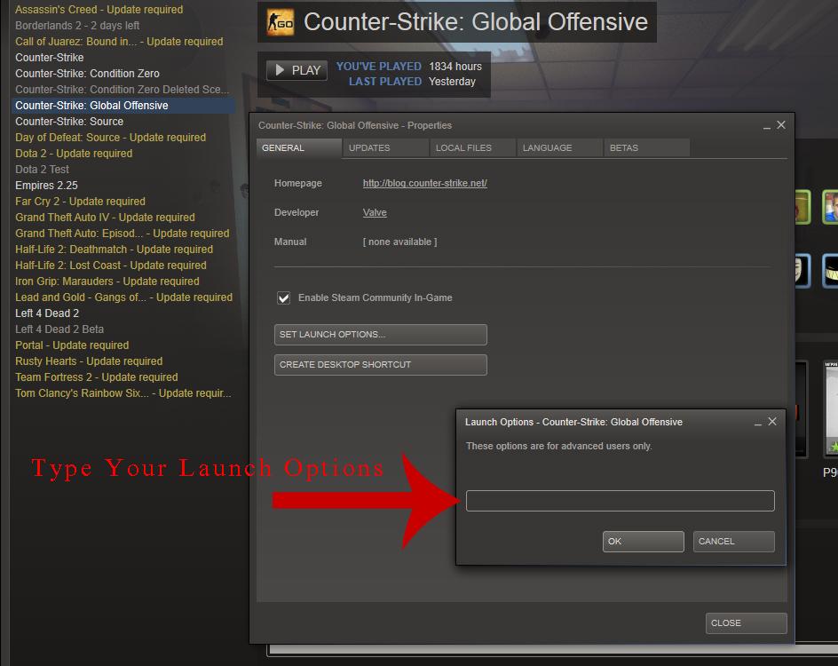 Best steam launch option for better fps